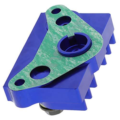 perfk Motorkühlung Autokühler Kühlerteile Kühler Passend für 125ccm 140ccm Dirt Bike ATV Quad Monkey Ölkühler - Blau, 80 x 47 x 37 mm