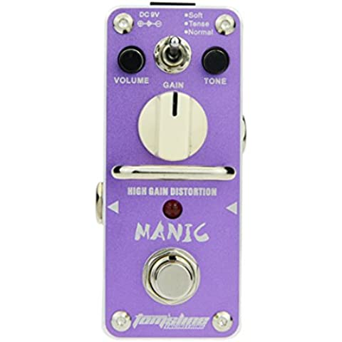 Tomsline AMC3 Manic - Mini pedale per effetti sonori, per chitarre, High Gain Distortion