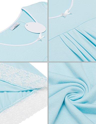 Unibelle -  Camicia da notte  - Maniche corte  - Donna Hellblau