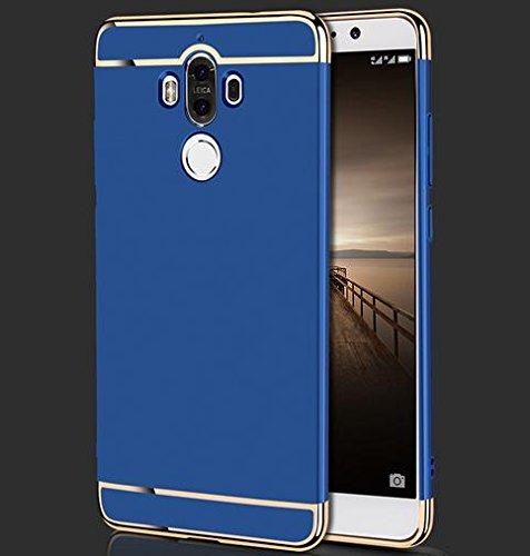 Semoss Luxury Bling Gliter Strass Custodia con Cuore Anello Supporto per iPhone 6S Plus / 6 Plus Ultra Slim TPU Cover Trasparente Case Rigida PC Bumper Cavalletto Shell Skin - Rose Blu