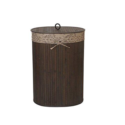 TOP MULTI 20613.CH-10L.1603-0004 Wäschekorb Bambus, oval, dunkelbraun