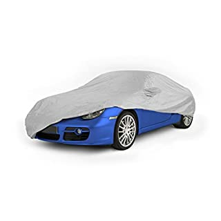 ASC Waterproof Silver Full Size Car Cover Protector - 455cm x 165cm x 120cm