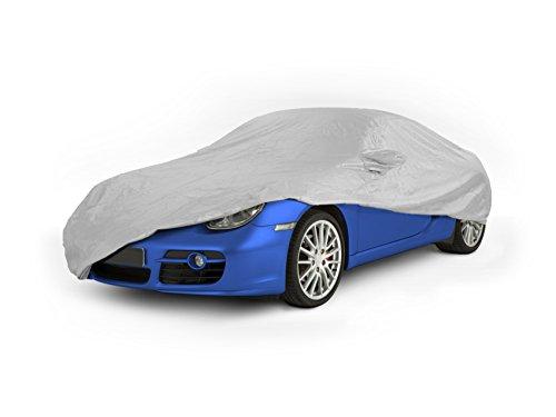 Wasserdichte Autoabdeckung–Silber–Schutz vor UV-Strahlen, Regen, Wind, Frost und Schnee