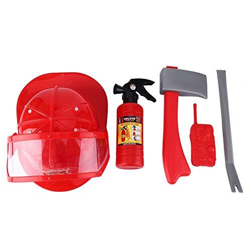 Nitrip 5pcs Bambini Pompiere Vigile del Fuoco Giocattoli Cosplay Kit Casco estintore interfono Chiave Ascia