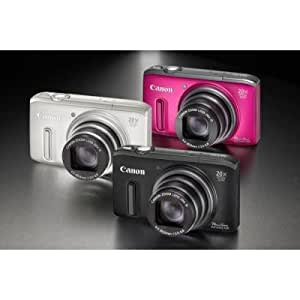Canon Powershot SX240 HS Digital Camera - Black (12.1 MP, 20x Optical Zoom) 3.0 Inch LCD