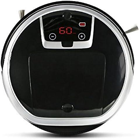EVERTOP Aspiradora Robótica Casera Inteligente Barredora Automática para Pelo de Mascotas, Suciedad, Removedor de polvo.