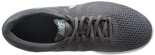 Nike Damen Wmns Revolution 4 EU Laufschuhe, Schwarz/Anthrazit Grau (Gunsmoke/ocean Bliss/dark Grey/white/black 004)
