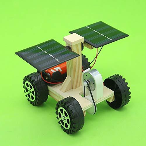 Moocevill - Holz Lunar Rover Modell Students DIY Wissenschaft Materialien Kits Solarbatterie-Hybrid-Auto Kids Fun Science Experiments Toy [] (Modell Holz-auto Kits)