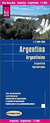 Reise Know-How Landkarte Argentinien 1 : 2.000.000: reiß- und wasserfest