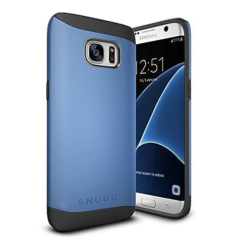 Coque Galaxy S7 Edge, Snugg Samsung Galaxy S7 Edge Double Couche Case Housse Silicone [Bouclier Légère] Etui de Protection – Bleu, Infinity Series