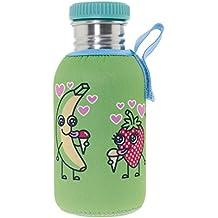 Katuki Saguyaki - Botella Infantil de Acero Inoxidable 18/8 con Tapón de Rosca y
