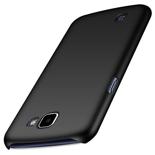 anccer LG K4 Hülle, [Serie Matte] Elastische Schockabsorption und Ultra Thin Design für LG K4 (Glattes Schwarzes)