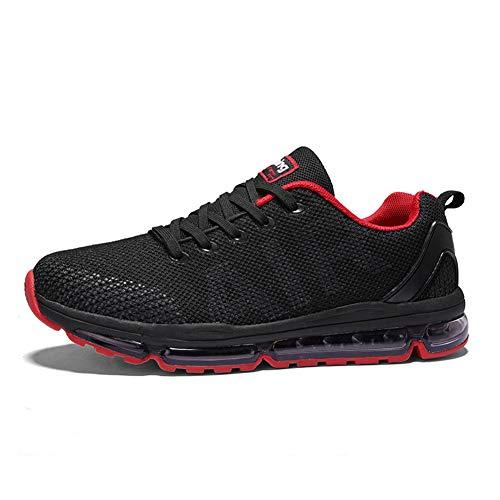 Uomo Donna Scarpe da Ginnastica Unisex Corsa Sportive Running Sneakers Casual all'Aperto(A61-Red45)