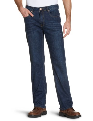 H.I.S Jeans Herren Straight Leg Jeans Stanton Blau (blue stretch w4002)