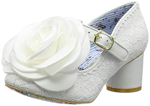 Irregular Choice Kussen, Zapatos de Boda para Mujer, Blanco (White Dark), 39 EU