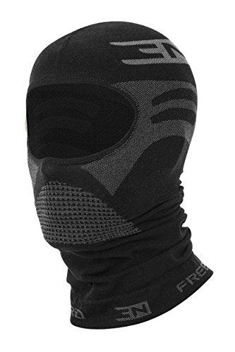 Freenord THERMOTECH EVO '33' Sturmhaube Gesichtshaube Skihaube Skimaske Kopfhaube Thermoaktiv Atmungsaktiv Skiunterwäsche Motorradunterwäsche - Ski - Motorrad (Schwarz, S/M)
