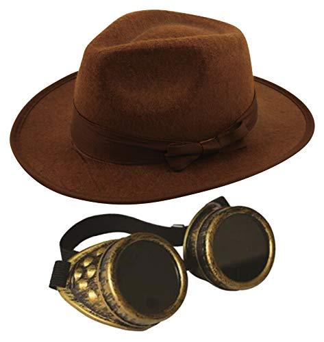 Labreeze Erwachsene Safari Explorer Hut mit antiker Goldener - Safari Kostüm Für Erwachsene