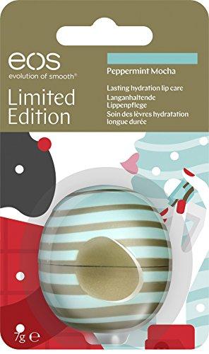 eos Visibly Soft Limited Edition Peppermint Mocha Lip Balm, feuchtigkeitsspendende Lippenpflege, Intensiv-Pflege für trockene Lippen, Beauty-Helfer, 1 x 7 g -