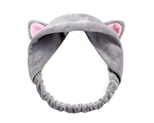 süße Katze Ohren Stirnband Haarband für Waschen Sie Ihr Gesicht und Make Up (Katze, Gesichts-make-up)