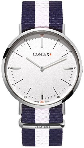 Comtex Dame Armbanduhr Schweizer Quarz Uhren mit Textilband Fashion