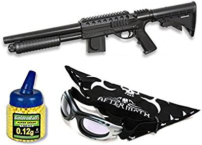 Pack Rifle Airsoft Smith & Wesson. Calibre 6mm. Potencia 0,7 Julios + Gafas antivaho + Biberon 1000 bolas