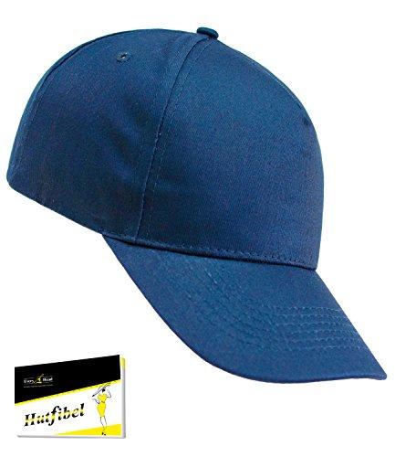 Atlantis Herrenbasecap Basecap Baseballcap Schirmmütze Schildmütze Sportcap Sommercap Freizeitcap Panelcap für Männer (AL-502-S17-HE2) inkl. EveryHead-Hutfibel