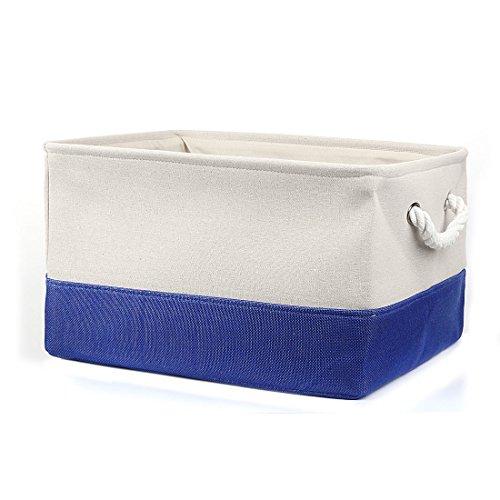 ox Aufbewahrungsbox Lagerung Körbe für Spielzeug Kleidung Organizer Wäschekorb Behälter Königsblau L DE de ()