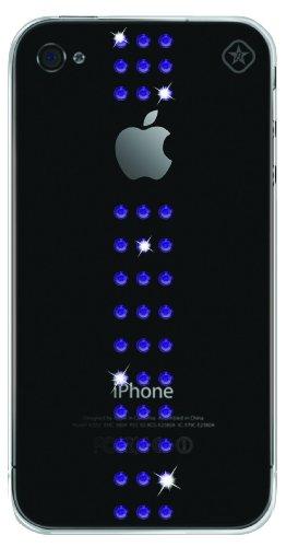 Bling my thing stripe - custodia per iphone 4 con elementi in swarovski, colore: viola