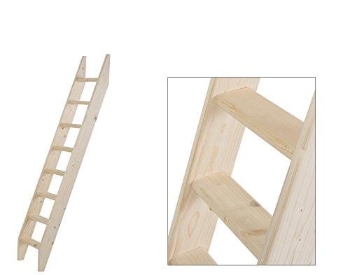 Intercon® Holztreppe aus Fichte Massivholz in 4 Größen (145, 190, 240, 260 cm) (8 Stufen (190 cm))
