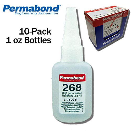 1oz 10-pack+asc10 Instant Adhesive-fast Set Thick Gap Filling Pure White And Translucent Permabond 200