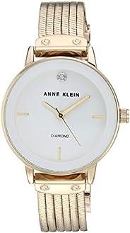 Anne Klein Women's AK/3220 Diamond-Accented Chain Bracelet W