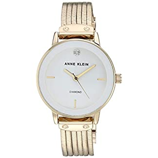 Anne Klein AK/3220 Reloj de Pulsera con Cadena de Diamantes para Mujer