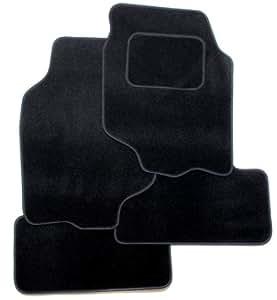 J.R. Tailor Fit Car Mat Set, Black