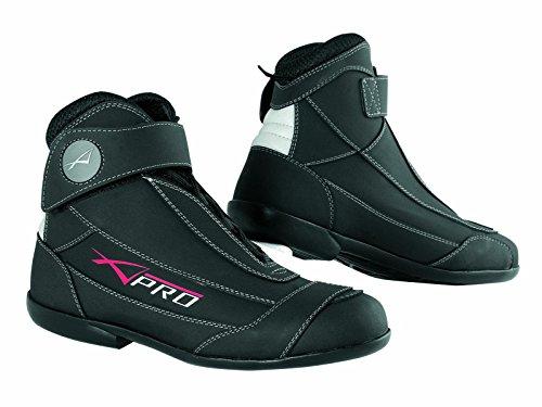 Scarpa Moto Scarpette Calzature Motociclismo Scoouter Stivale Pelle Nero 44
