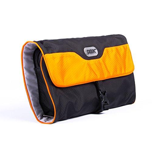 Appendere Beauty Case da Viaggio, GOX Premium Large 420D Nylon Impermeabile Portatile di Rotolamento tre Piegata Pieghevole Design di stile Borsa da Toilette / Kit da Toilette Bag / Organizzatore di Viaggi con Gancio (Large,