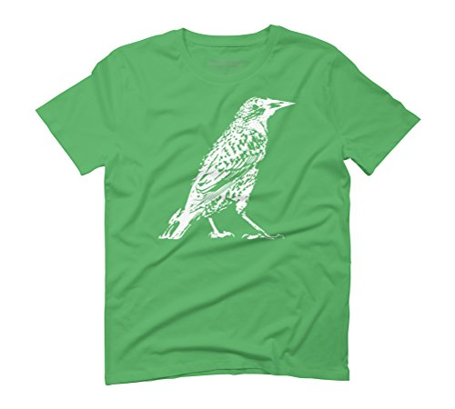 Starling Men's Graphic T-Shirt - Design By Humans Green