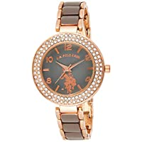 U.S. Polo Assn. USC40247 Women's Quartz Watch, Analog Display and Stainless Steel Strap