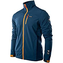 Elbrus Hombre scabby Softshell, hombre, color Blue Wing Teal/Orange, tamaño large