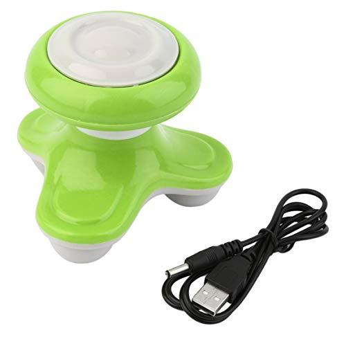 Funnyrunstore Massaggiante Completo per Il Corpo Massaggiatore per Il Corpo Massaggiatore per Vibrazione Massaggiatore USB Massetto ultracompatto Leggero per Il Trasporto