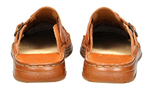 Confortable Forme Orthopedique En Veritable Cuir De Bison Chaussures Sandales Pour Homme Modele 861 Cognac