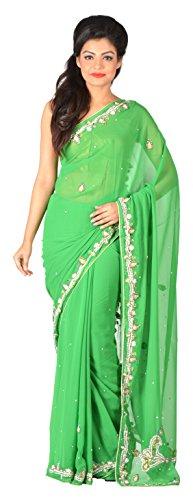 Gratitude Women's Viscose Saree (Green)