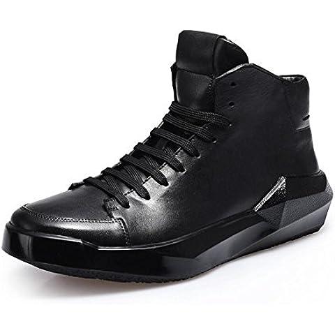Autunno/inverno uomo in pelle piattaforma moda UK alta scarpe scarpe