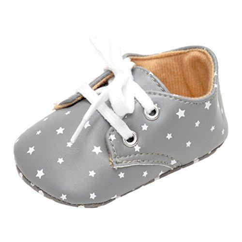 Chaussures Bébé,Fulltime®Chaussures Baby Star Impression Lacet Toddler semelle souple