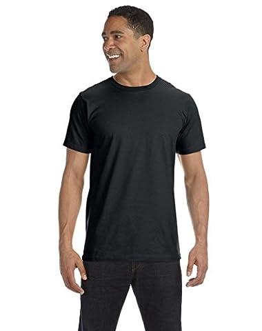 Anvil Herren One-Shoulder T-Shirt L Schwarz