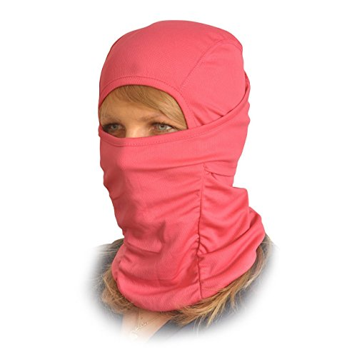 Le Gear Face Mask Pro+ for Bike, Ski, Cycling, Running, Hiking - Protects From Wind, Sun, Dust - 4 Way Stretch - #1 Rated Face Protection Mask (Pink)