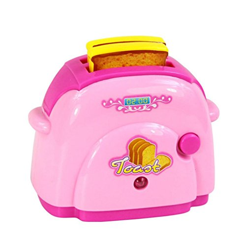 Familienküche Baby Kid Entwicklungs Lernspielzeug Simulation HaushaltsgeräTe KüChe Spielzeug (Rosa Brotmaschine)