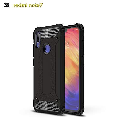 Redmi Note 7 / Pro Hülle, TPU + PC Iron Armor stoßfest, für Xiaomi Redmi Note 7/Pro, schwarz