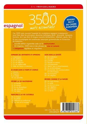 Espagnol: Les 3500 mots essentiels - Niveau B2-C1