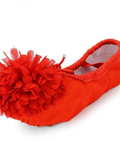 Les chaussures de danse du ventre tissu / Ballerines Talon débutant / Intérieur Ballet Slipper pour Filles Pink
