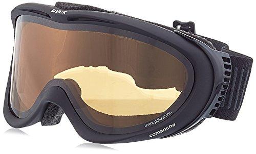 Adulti Uvex Comanche Pola occhiali da sci, Nero Opaco, Taglia unica